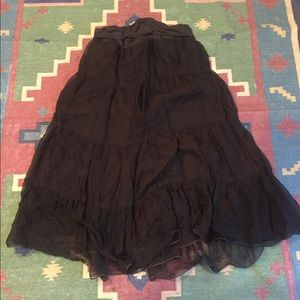 Anthropologie boho silk skirt, size M